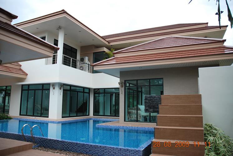 บ้านสไตล์โมเดิร์น ,รับเหมาสร้างบ้าน,  สร้างบ้านตามแบบ